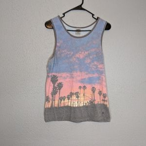 Hang Ten Distressed Tropical Surfer Tank